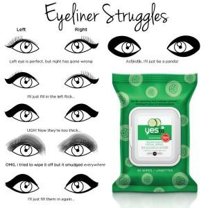 eyeliner struggle